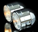 Scheinwerfer-Set, Fern + Abblendlicht chrom E-geprüft