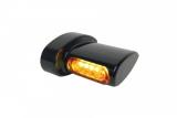 HeinzBikes Winglets MICRO LED Blinker schwarz, alle H-D Modelle 93-