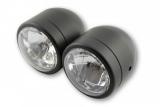Scheinwerfer-Set, Fern + Abblendlicht  schwarz E-geprüft